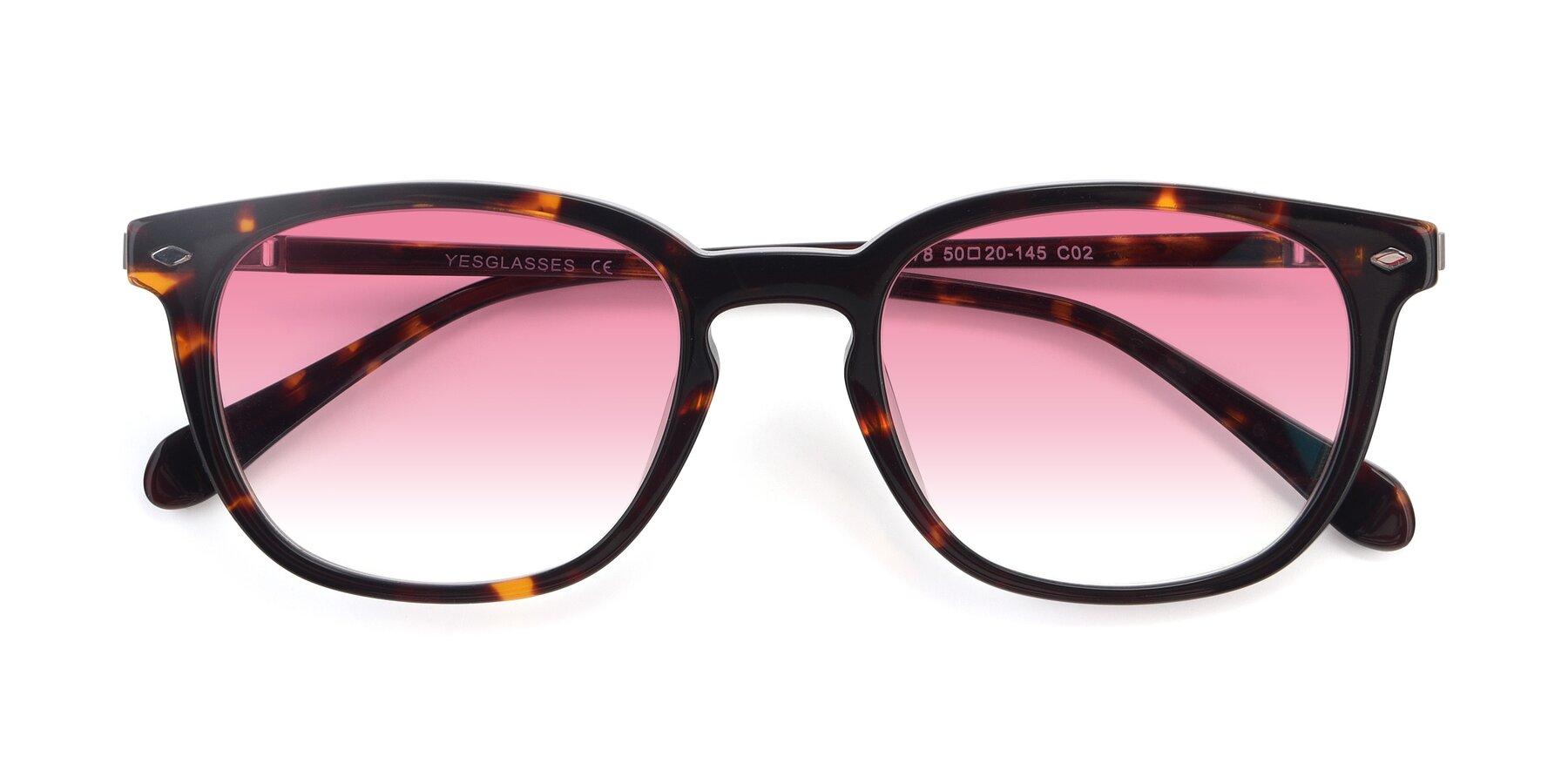 Folded Front of 17578 in Tortoise with Pink Gradient Lenses