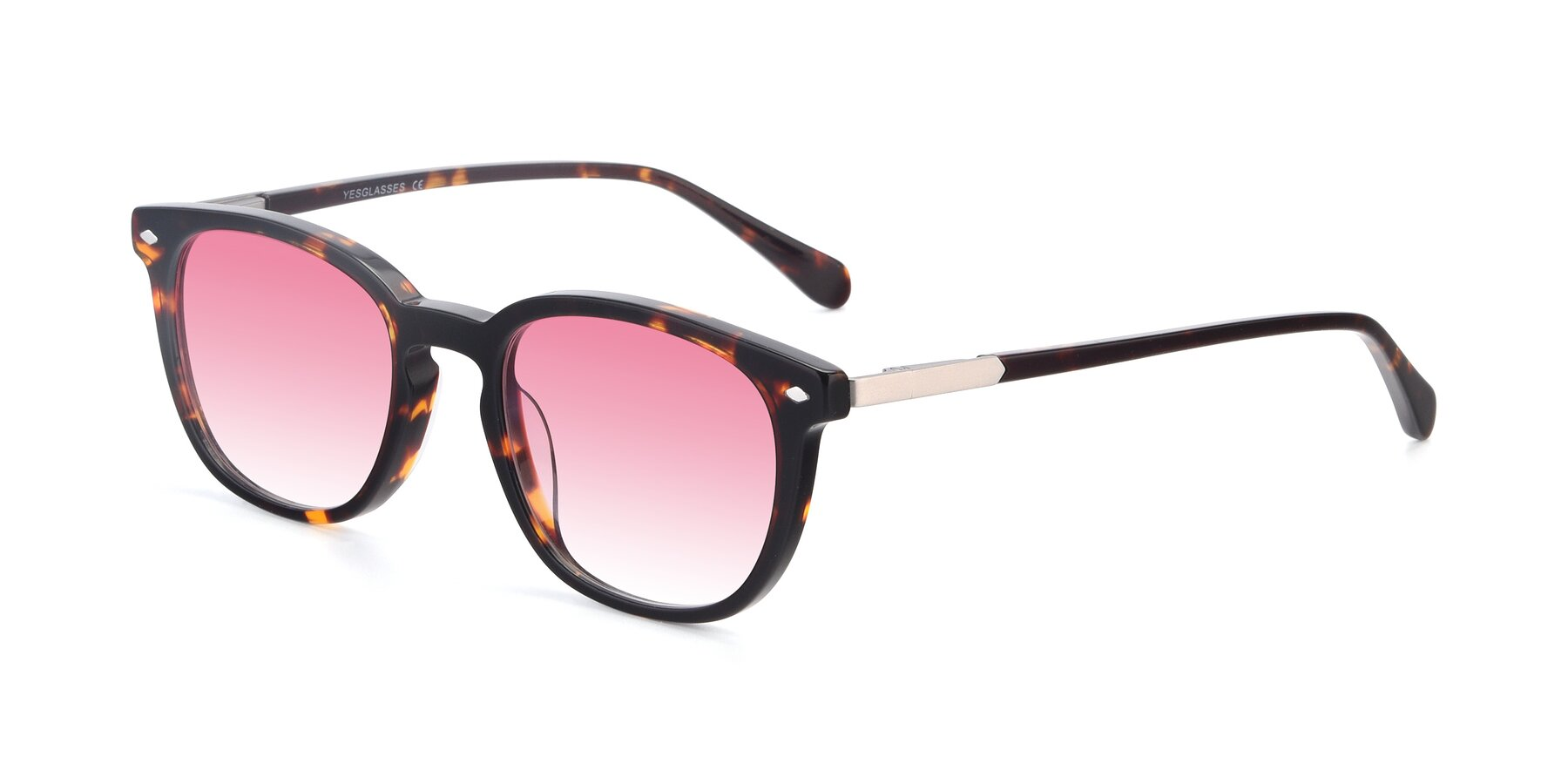 Angle of 17578 in Tortoise with Pink Gradient Lenses