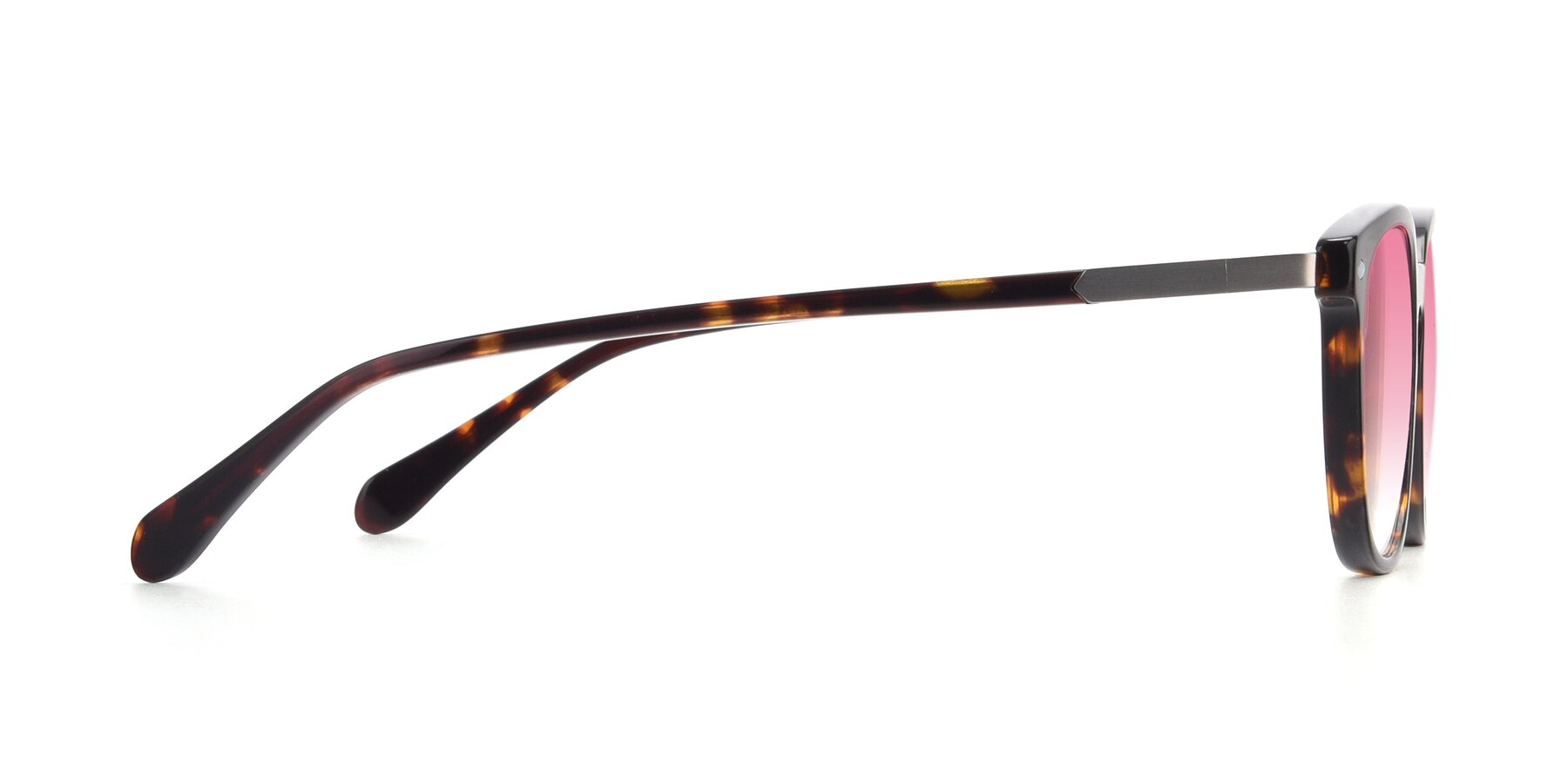 Side of 17578 in Tortoise with Pink Gradient Lenses