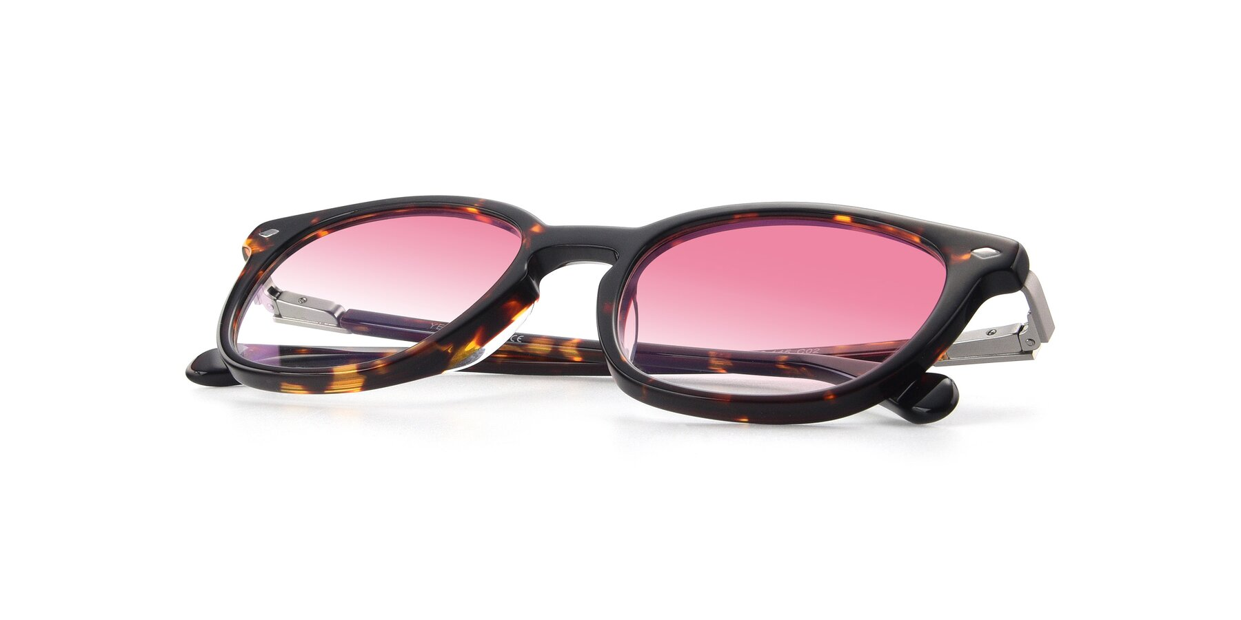 View of 17578 in Tortoise with Pink Gradient Lenses