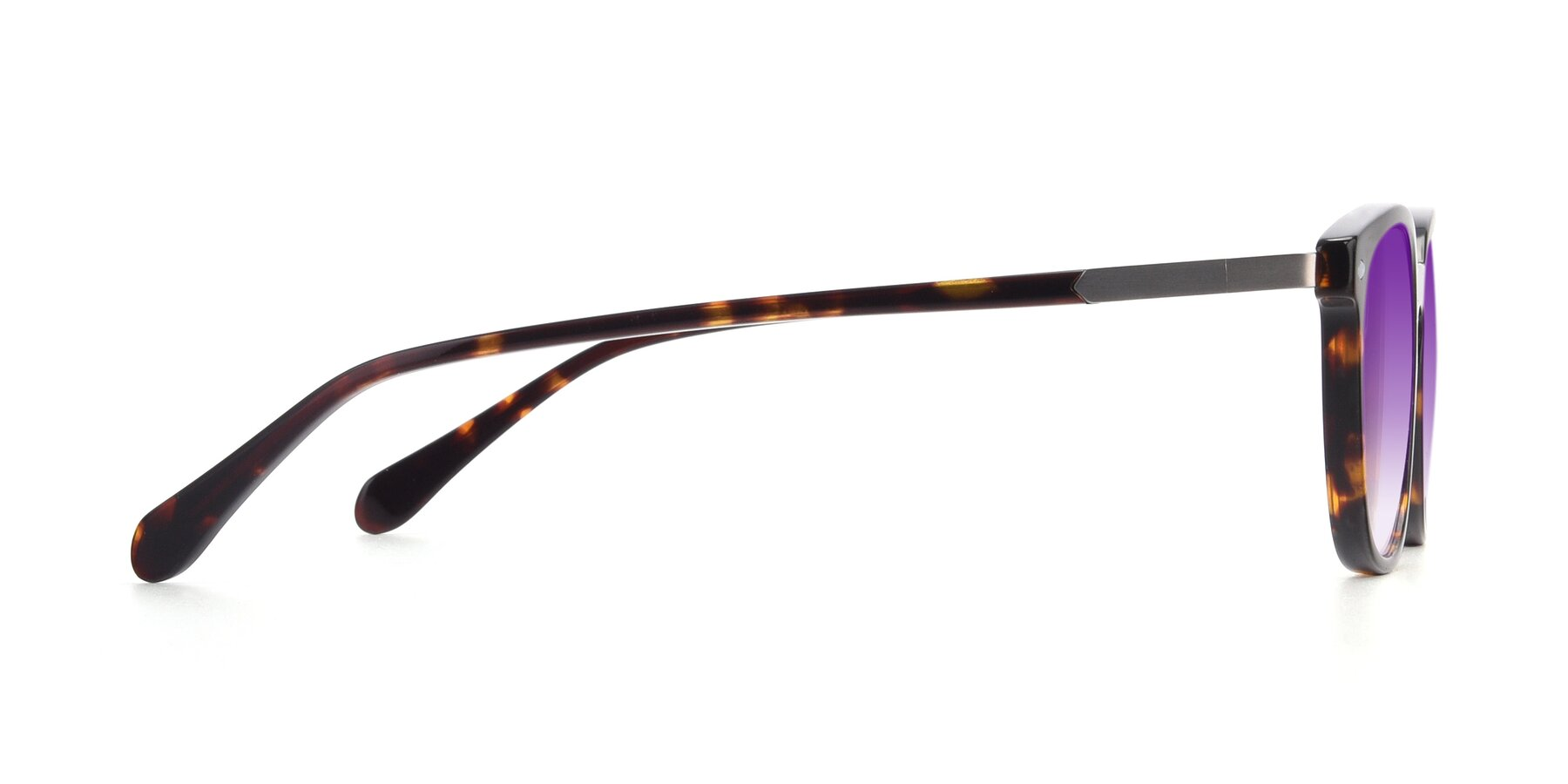 Side of 17578 in Tortoise with Purple Gradient Lenses