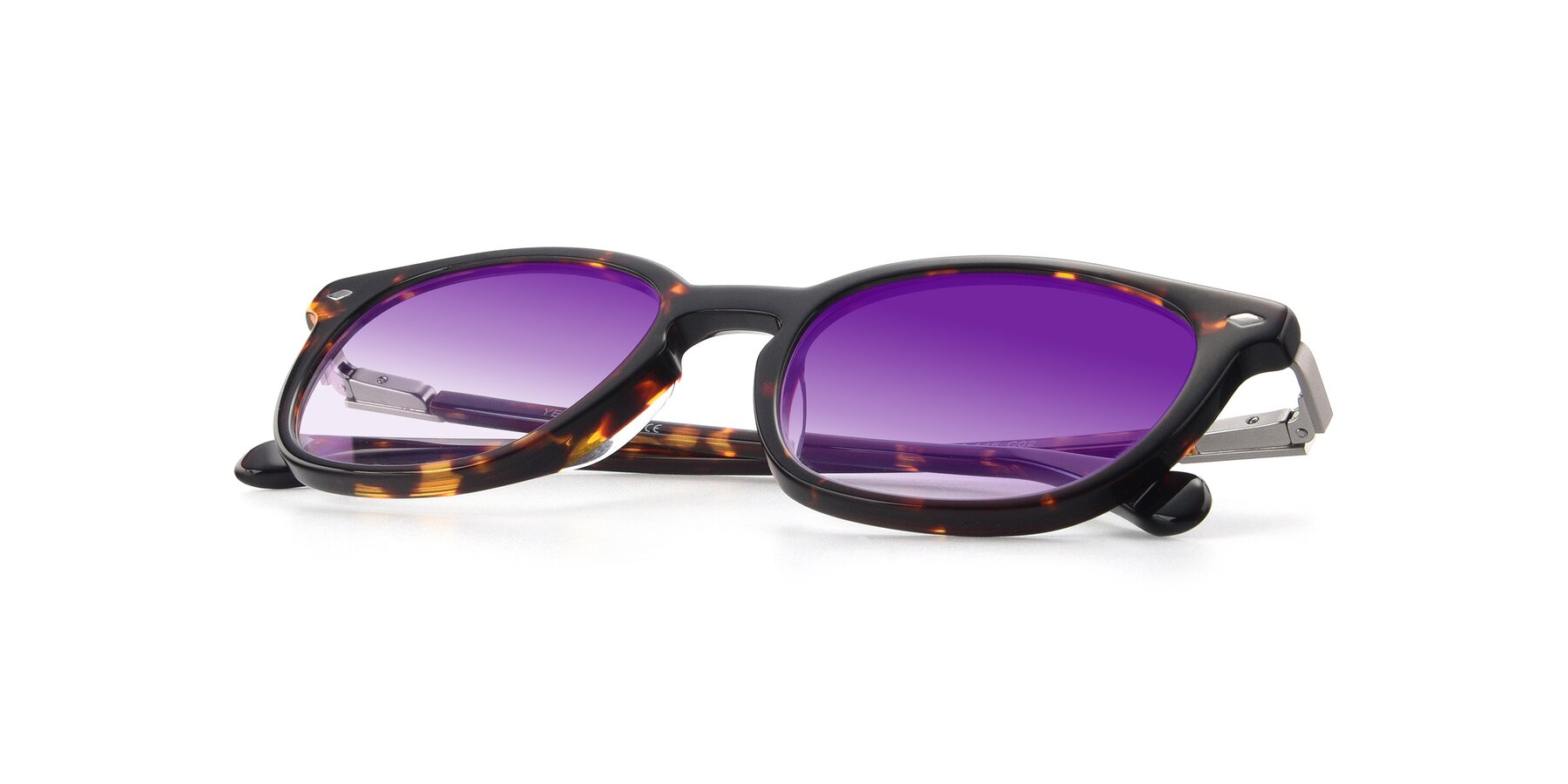 View of 17578 in Tortoise with Purple Gradient Lenses