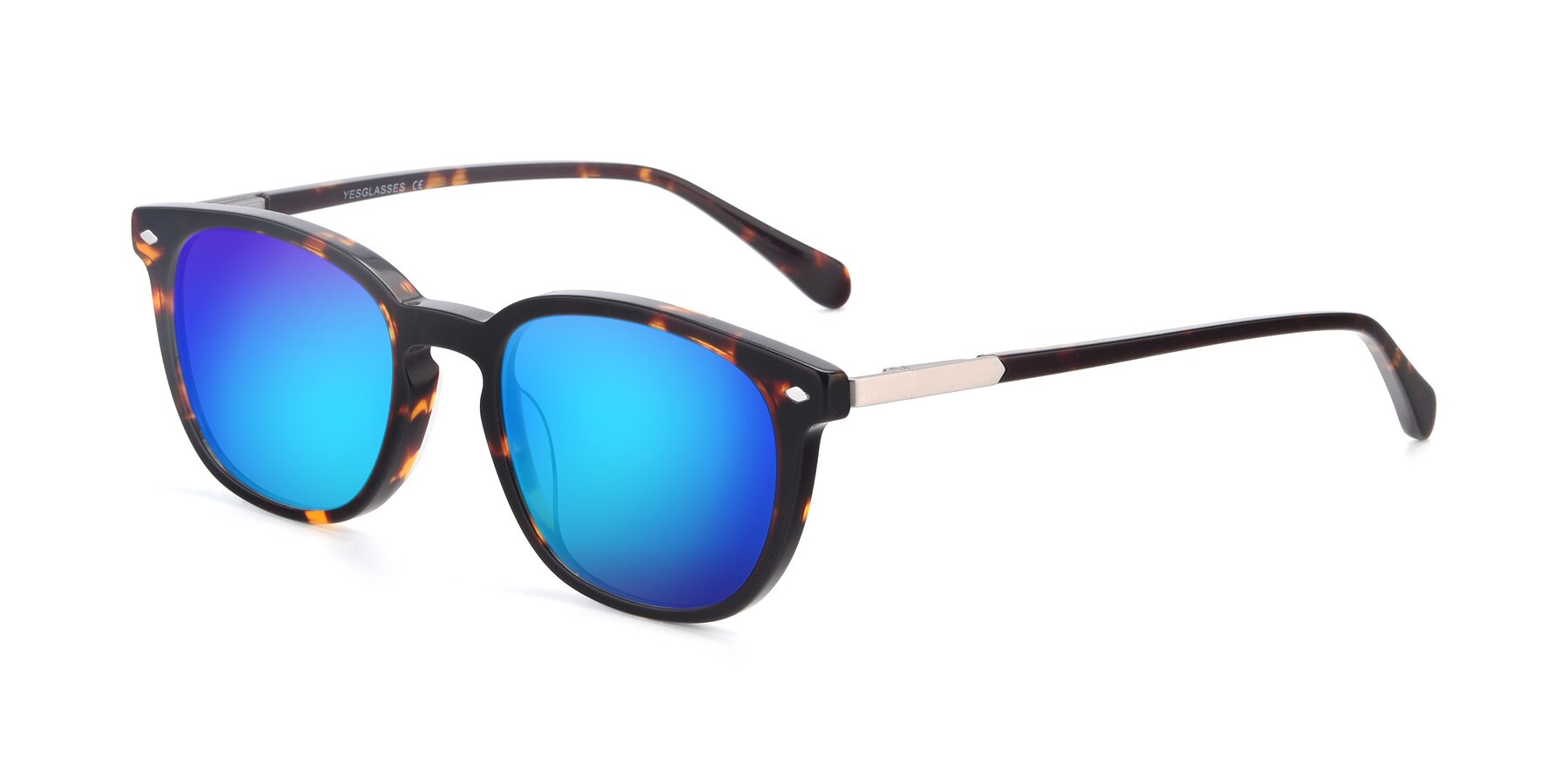 Angle of 17578 in Tortoise with Blue Mirrored Lenses