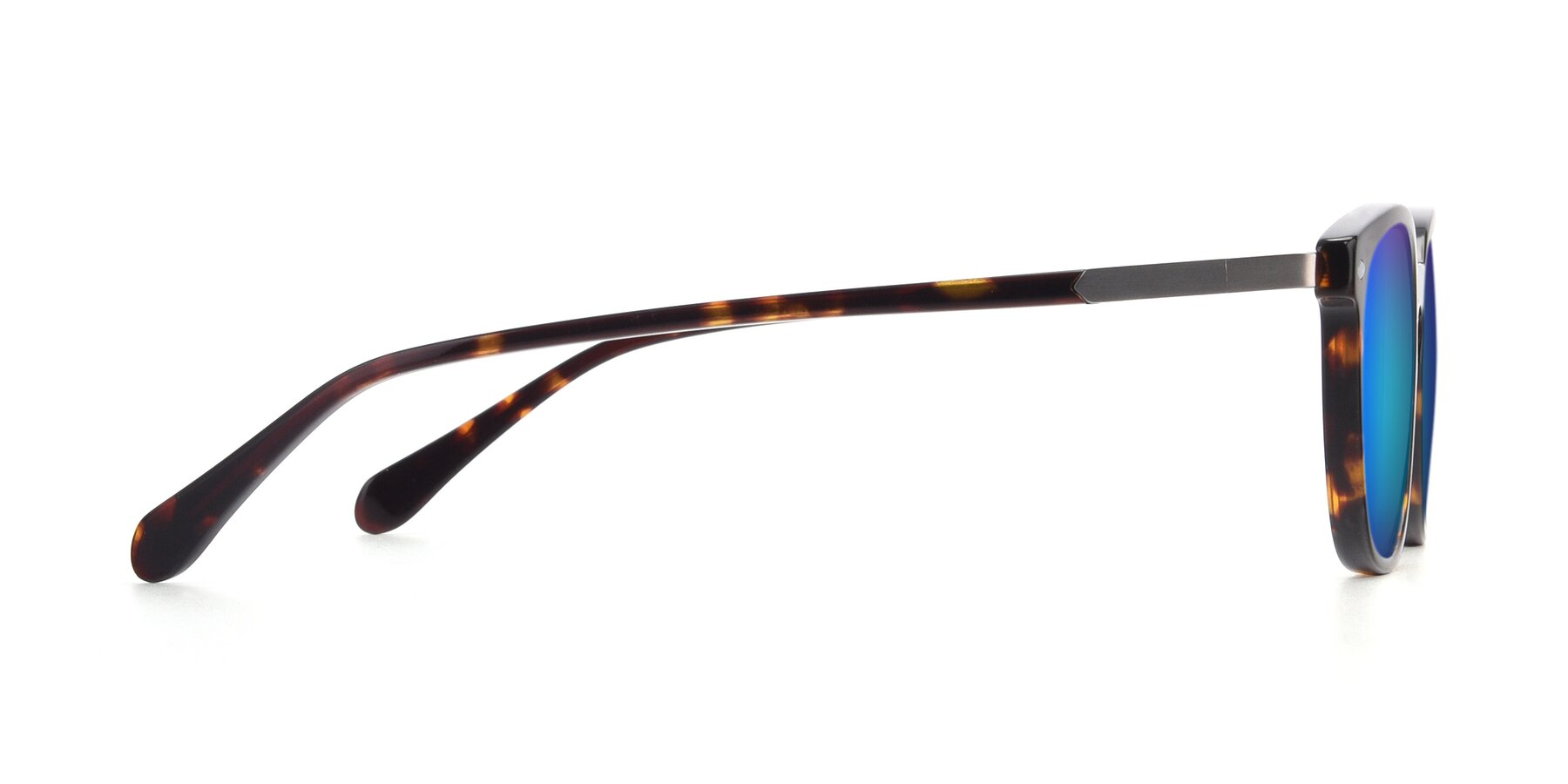 Side of 17578 in Tortoise with Blue Mirrored Lenses