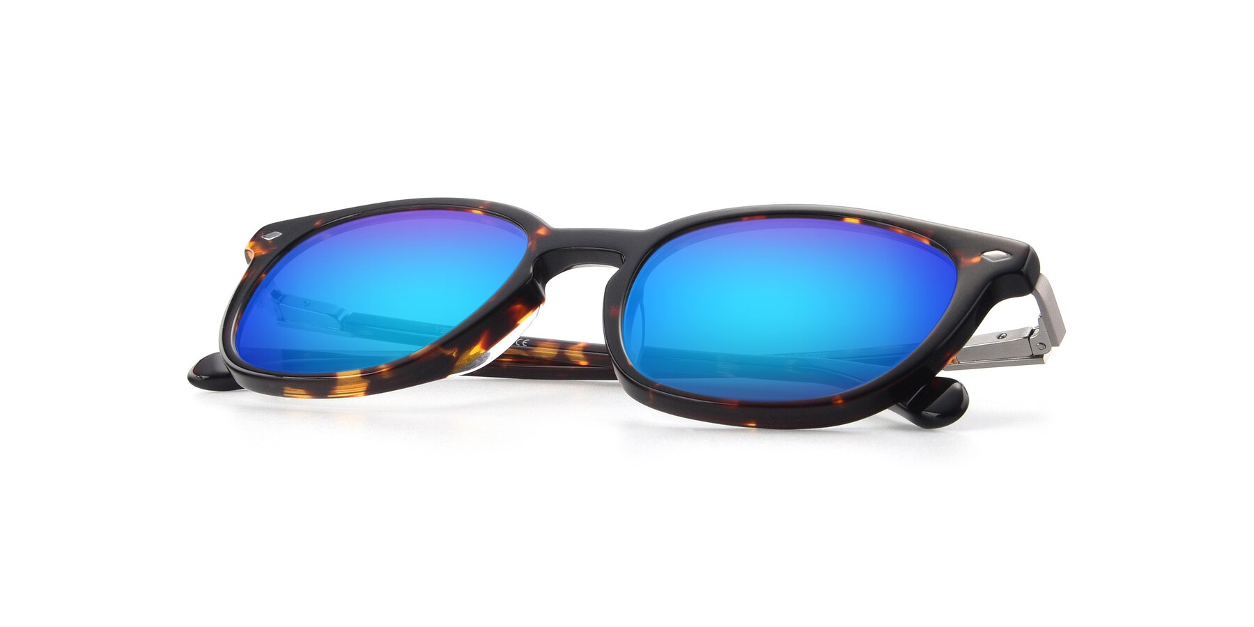 View of 17578 in Tortoise with Blue Mirrored Lenses
