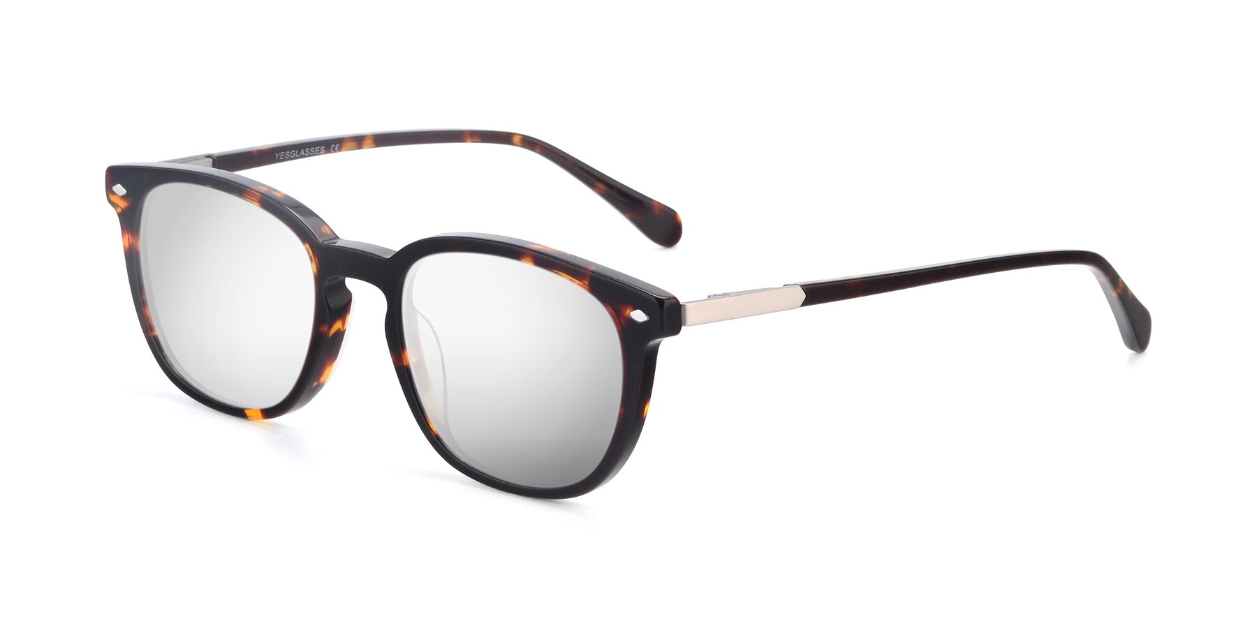 Angle of 17578 in Tortoise with Silver Mirrored Lenses
