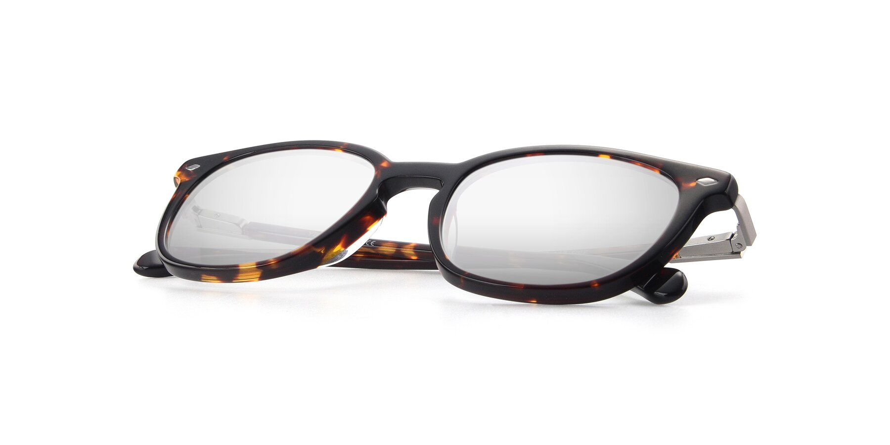 View of 17578 in Tortoise with Silver Mirrored Lenses