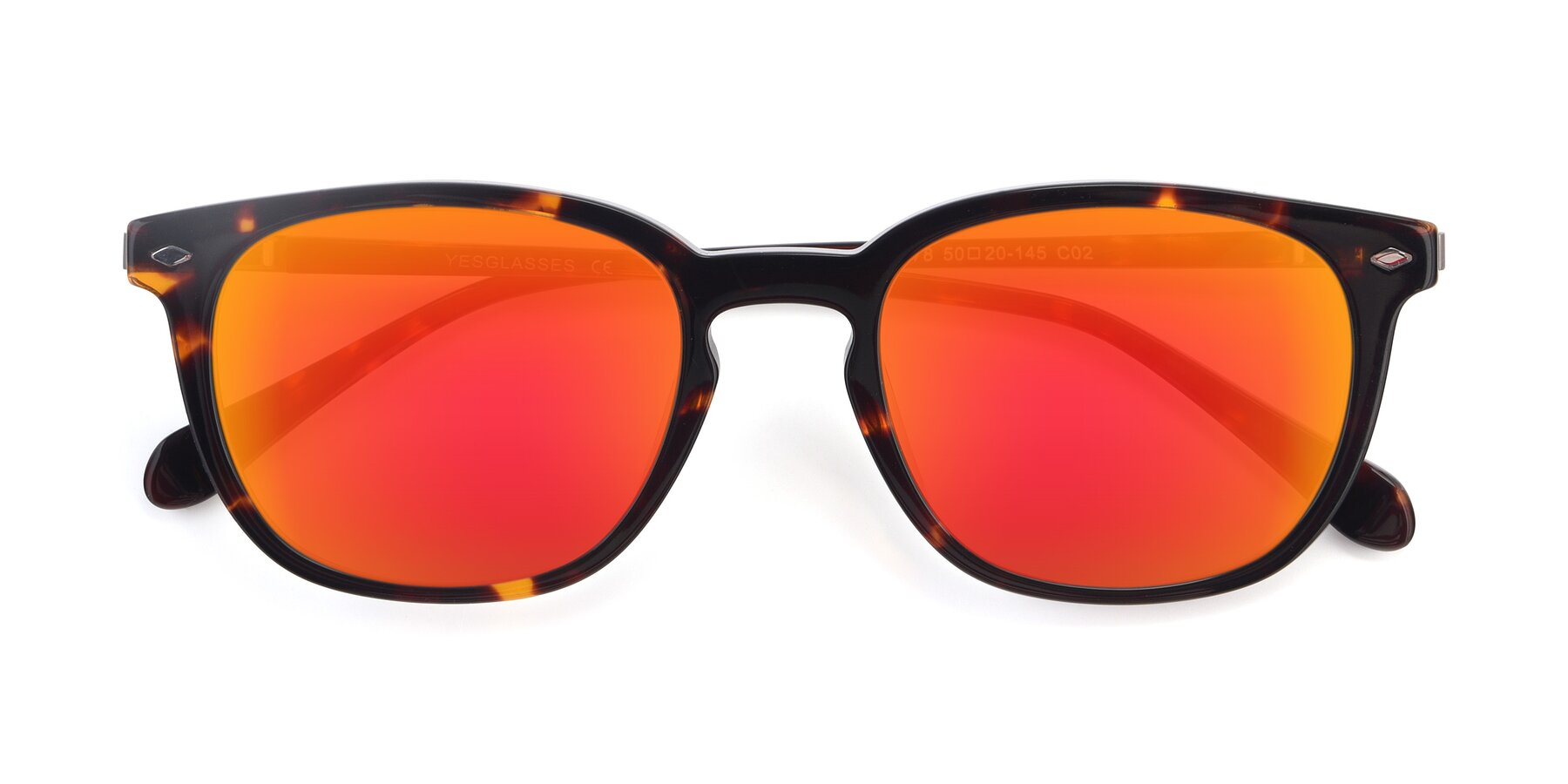 Folded Front of 17578 in Tortoise with Red Gold Mirrored Lenses