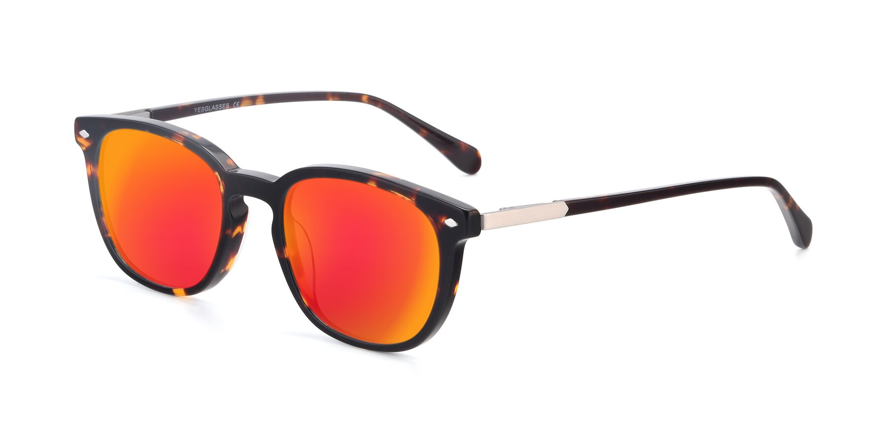 Angle of 17578 in Tortoise with Red Gold Mirrored Lenses