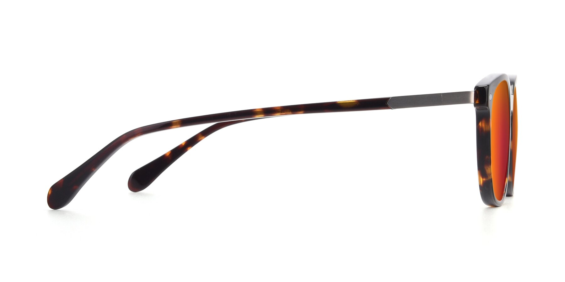 Side of 17578 in Tortoise with Red Gold Mirrored Lenses
