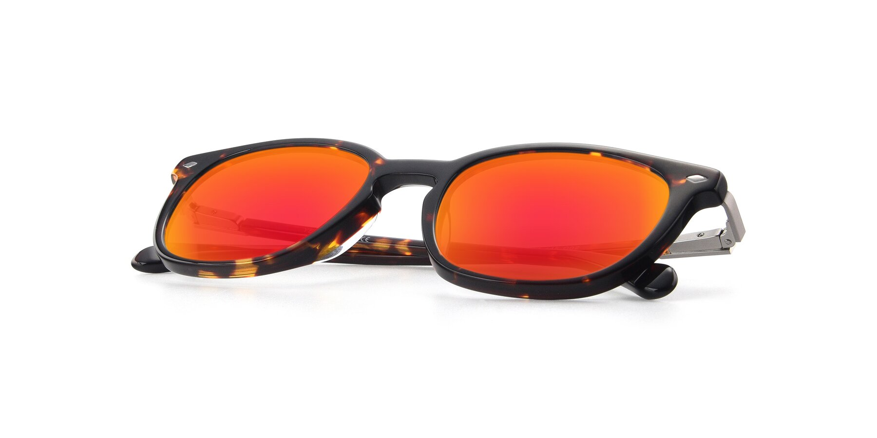 View of 17578 in Tortoise with Red Gold Mirrored Lenses