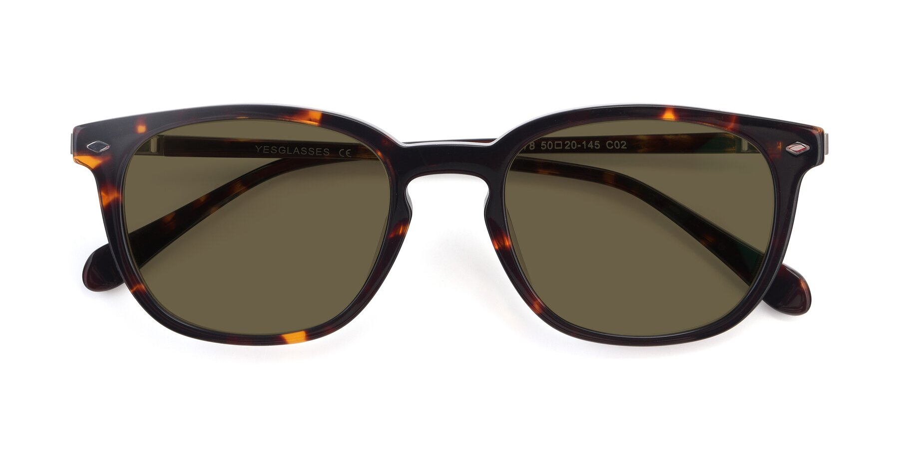 Folded Front of 17578 in Tortoise with Brown Polarized Lenses