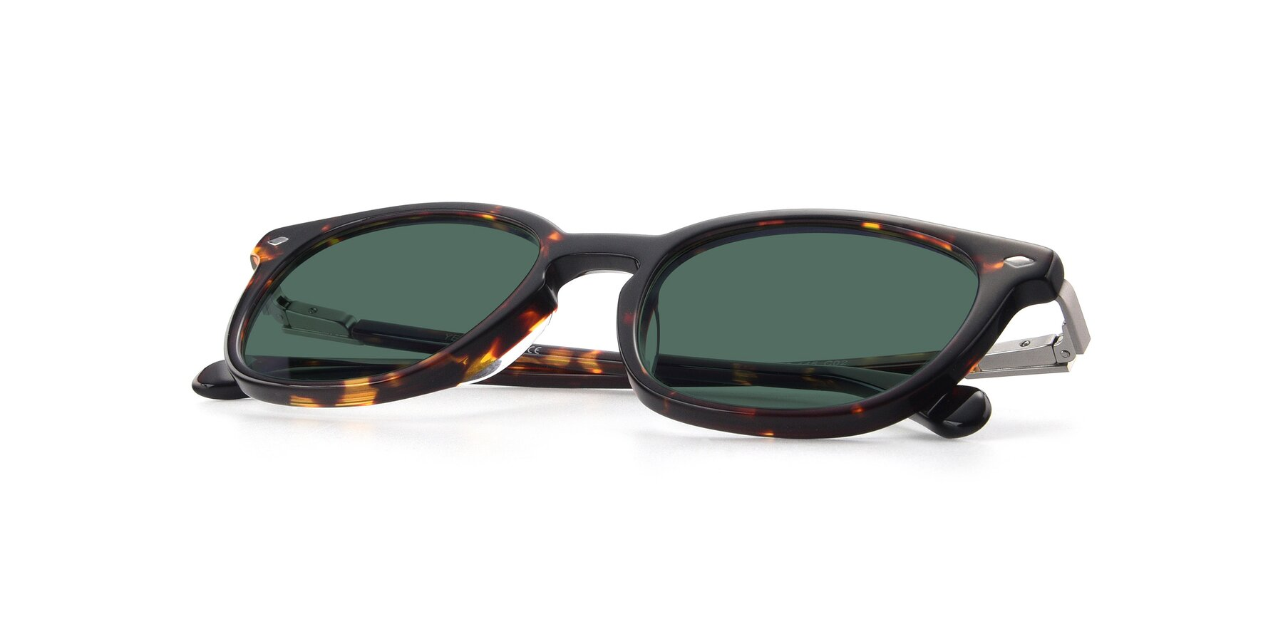 View of 17578 in Tortoise with Green Polarized Lenses