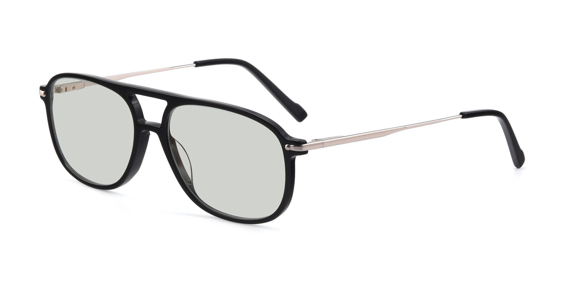 Angle of 17580 in Black with Light Green Tinted Lenses