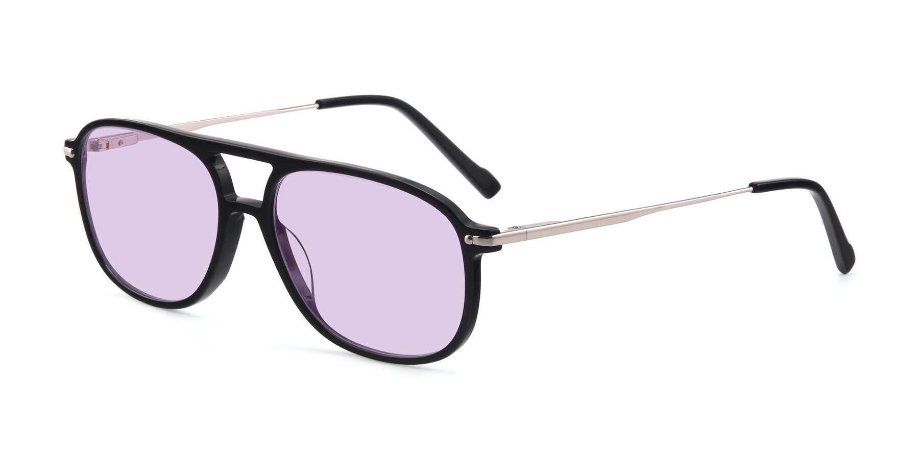 Angle of 17580 in Black with Light Purple Tinted Lenses