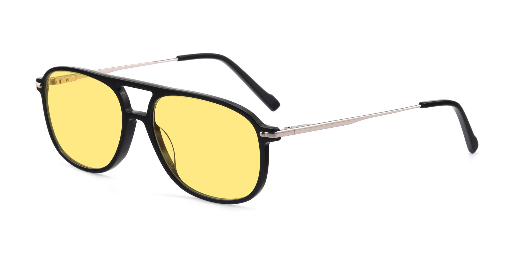 Angle of 17580 in Black with Medium Yellow Tinted Lenses