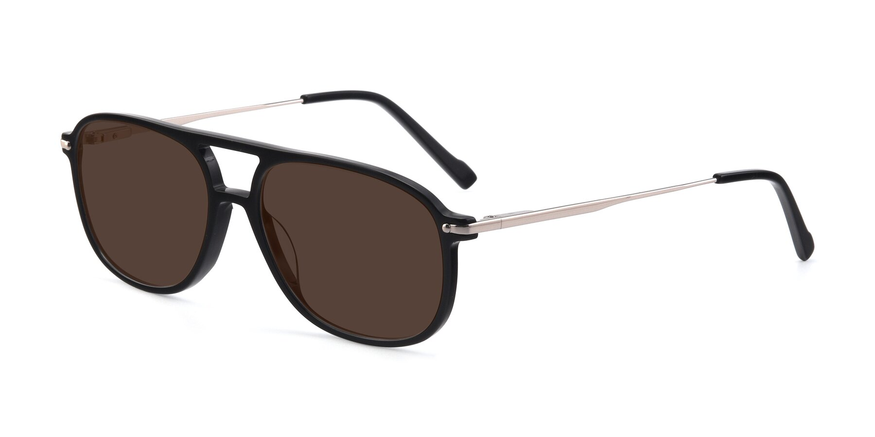 Angle of 17580 in Black with Brown Tinted Lenses