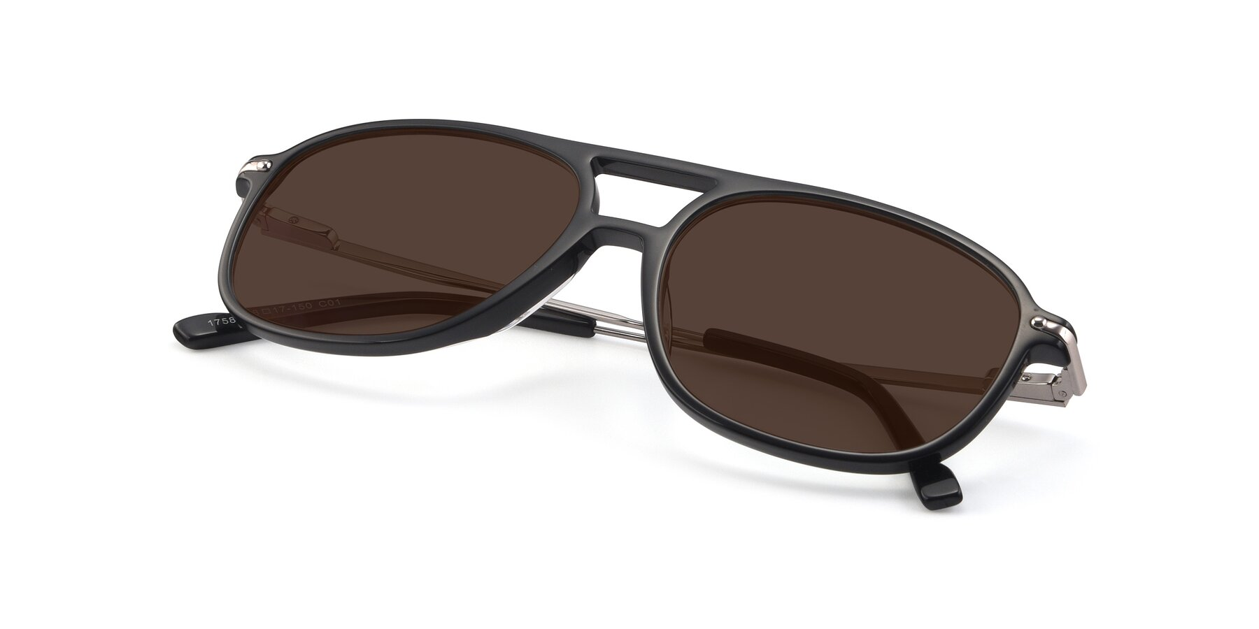 View of 17580 in Black with Brown Tinted Lenses