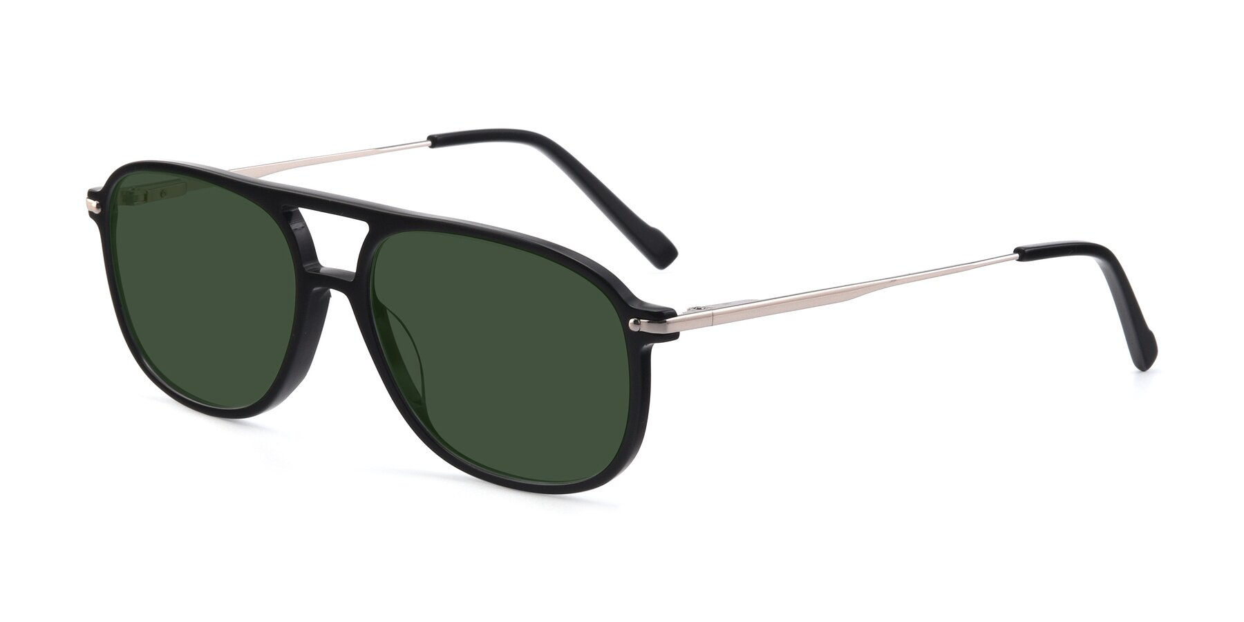 Angle of 17580 in Black with Green Tinted Lenses
