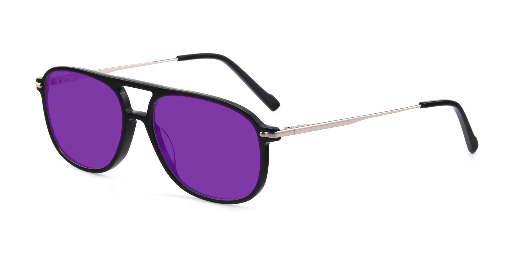 Angle of 17580 in Black with Purple Tinted Lenses