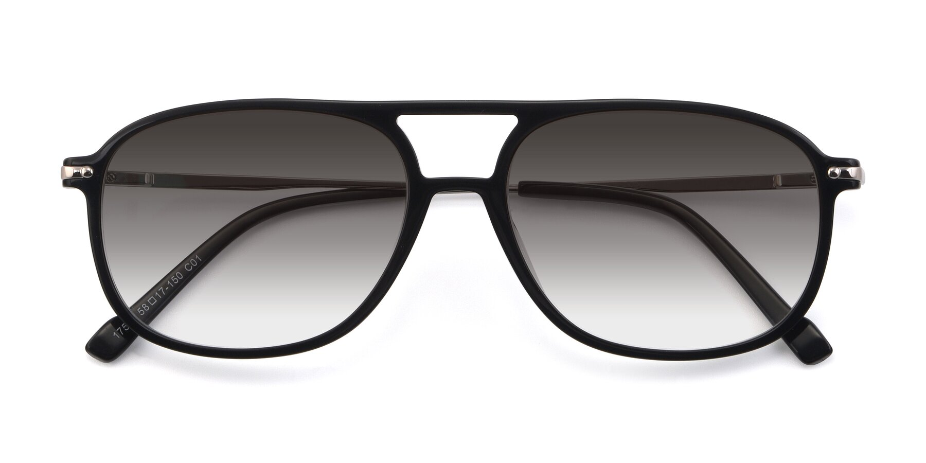 Folded Front of 17580 in Black with Gray Gradient Lenses