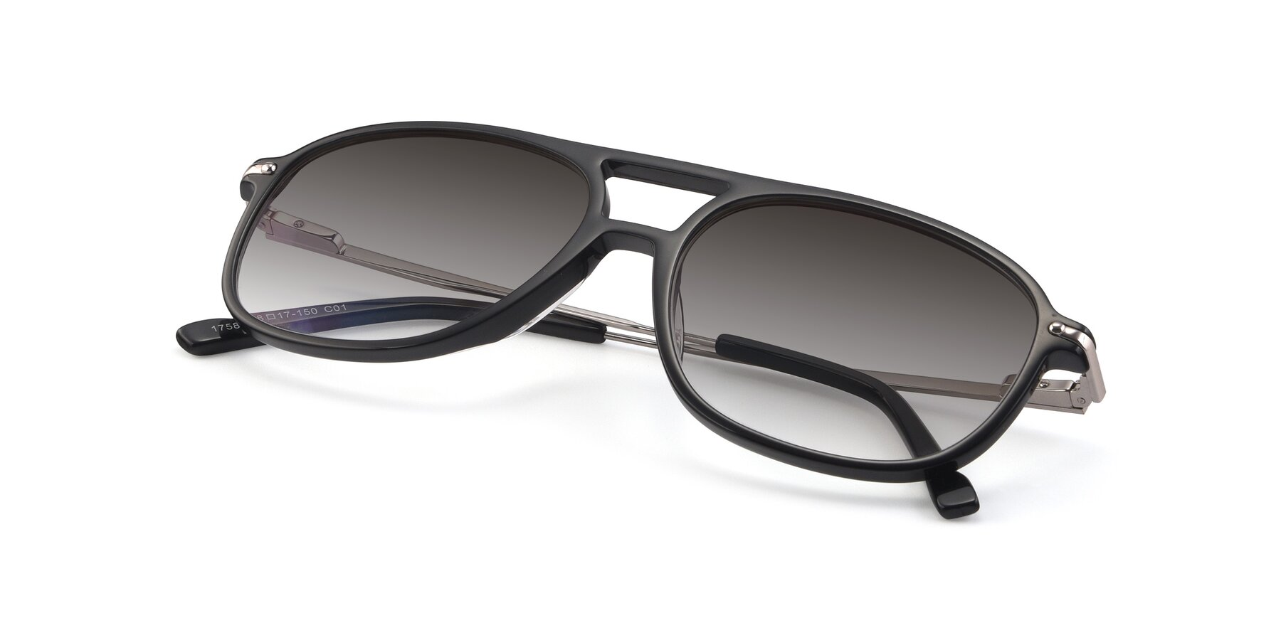 View of 17580 in Black with Gray Gradient Lenses