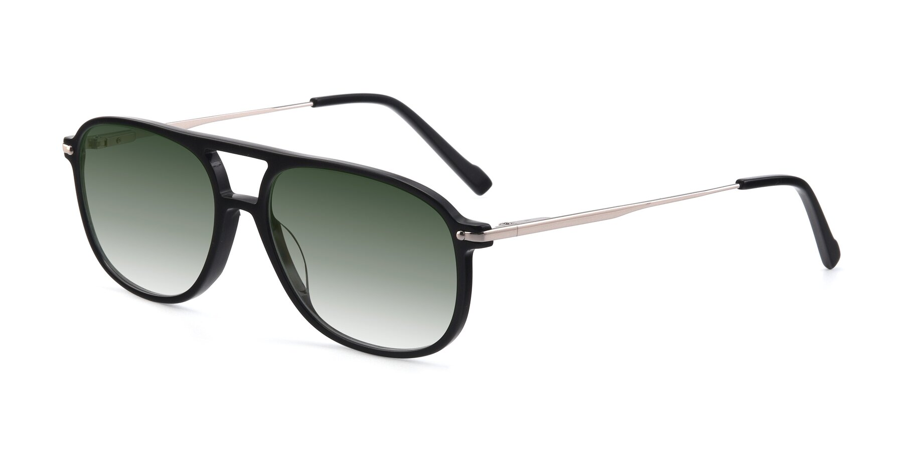 Angle of 17580 in Black with Green Gradient Lenses