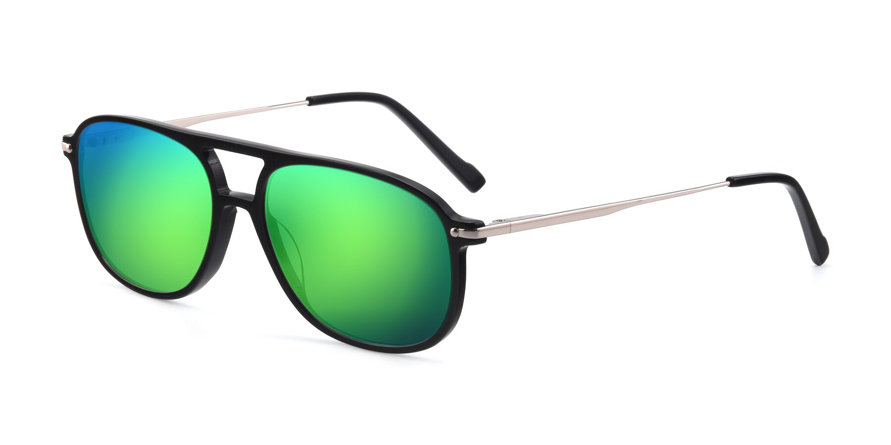Angle of 17580 in Black with Green Mirrored Lenses