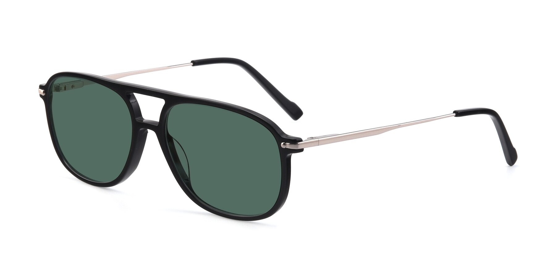Angle of 17580 in Black with Green Polarized Lenses
