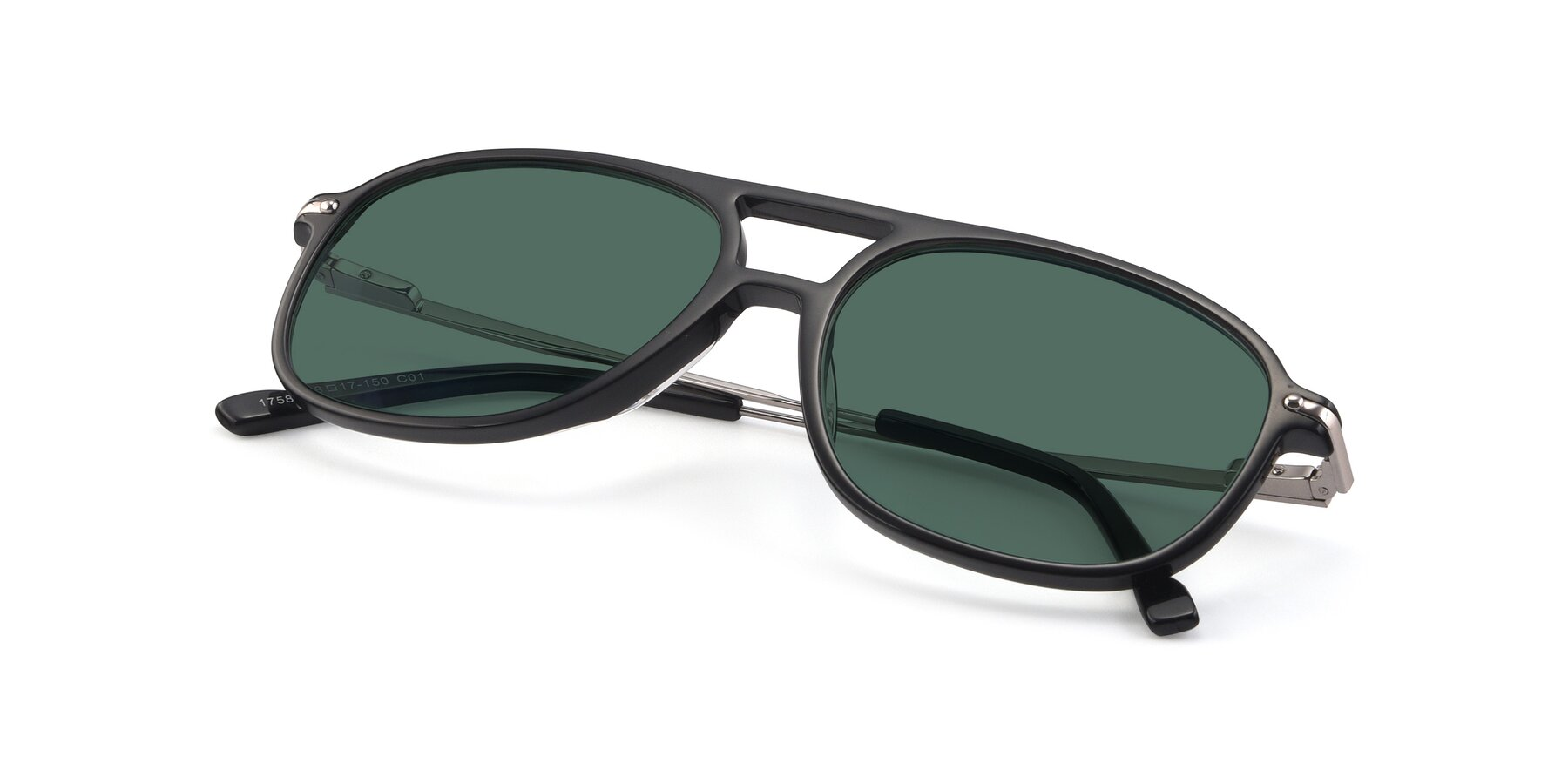 View of 17580 in Black with Green Polarized Lenses