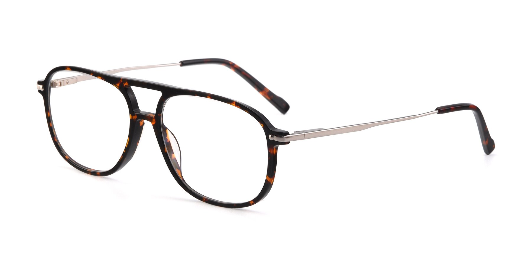 Angle of 17580 in Tortoise with Clear Eyeglass Lenses