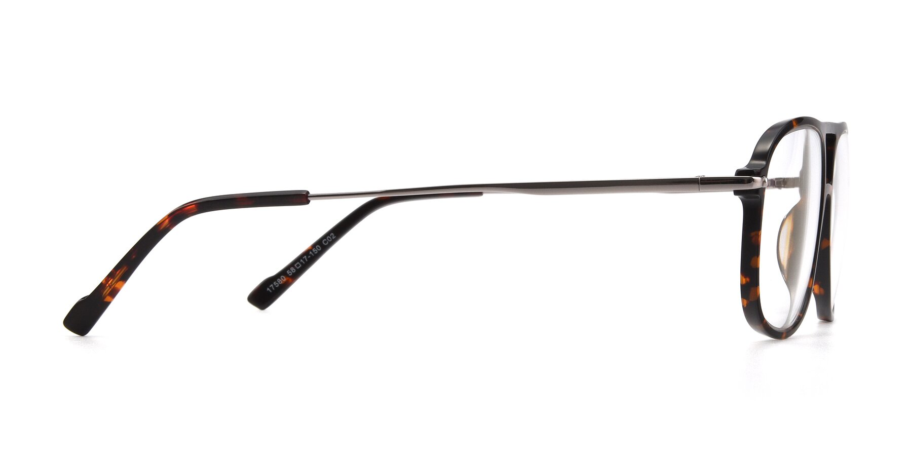 Side of 17580 in Tortoise with Clear Eyeglass Lenses