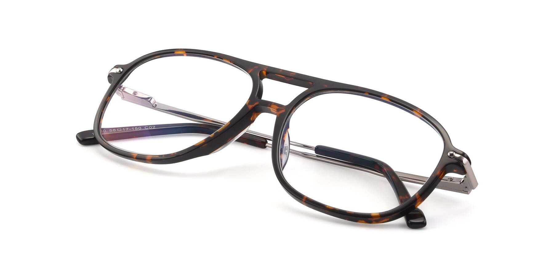 View of 17580 in Tortoise with Clear Eyeglass Lenses
