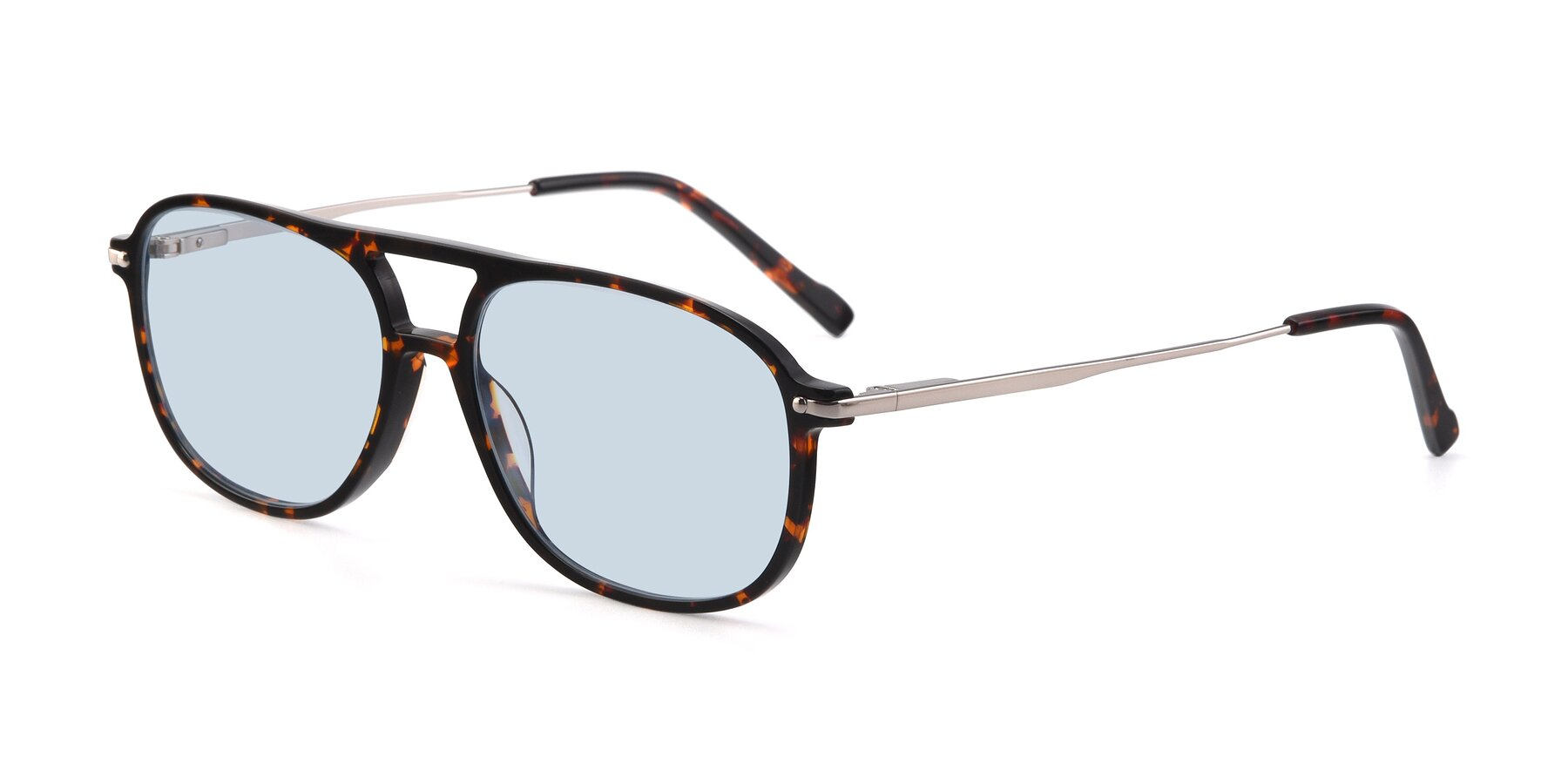 Angle of 17580 in Tortoise with Light Blue Tinted Lenses