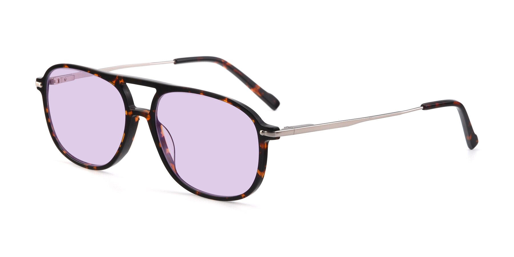 Angle of 17580 in Tortoise with Light Purple Tinted Lenses