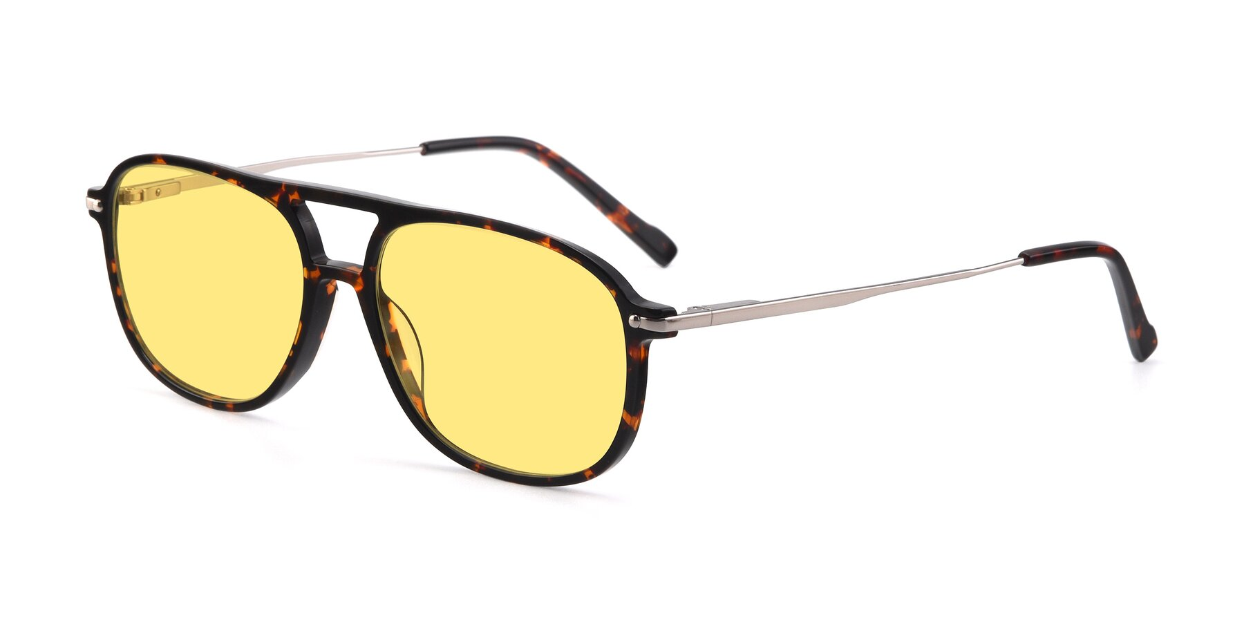 Angle of 17580 in Tortoise with Medium Yellow Tinted Lenses