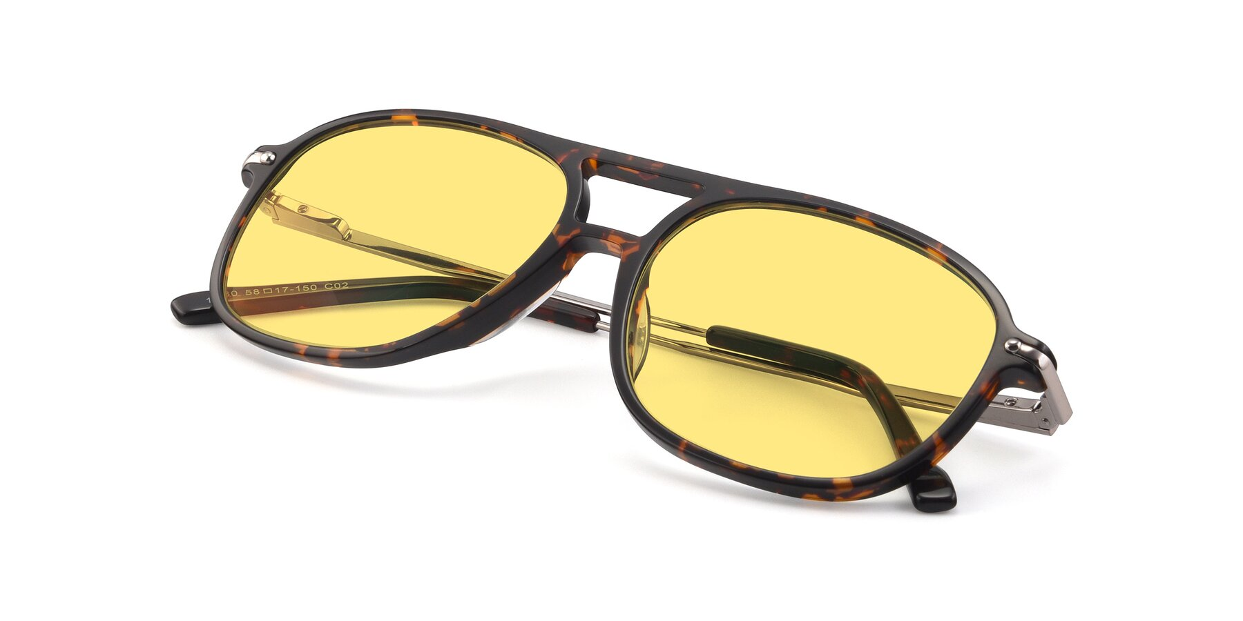 View of 17580 in Tortoise with Medium Yellow Tinted Lenses