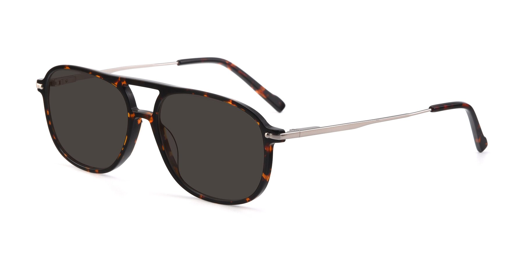 Angle of 17580 in Tortoise with Gray Tinted Lenses