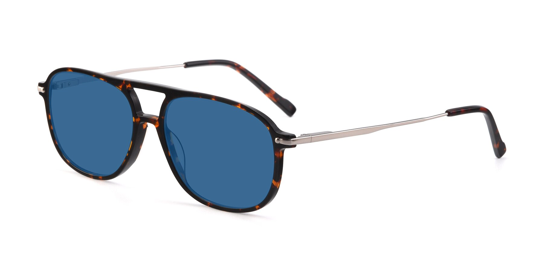 Angle of 17580 in Tortoise with Blue Tinted Lenses