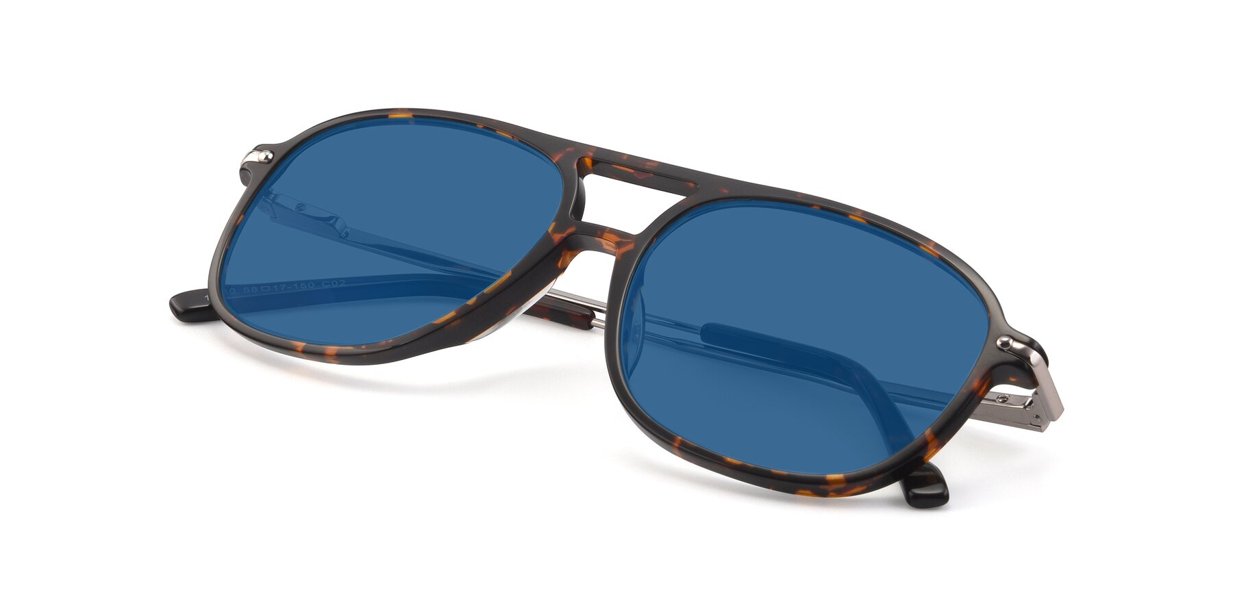 View of 17580 in Tortoise with Blue Tinted Lenses