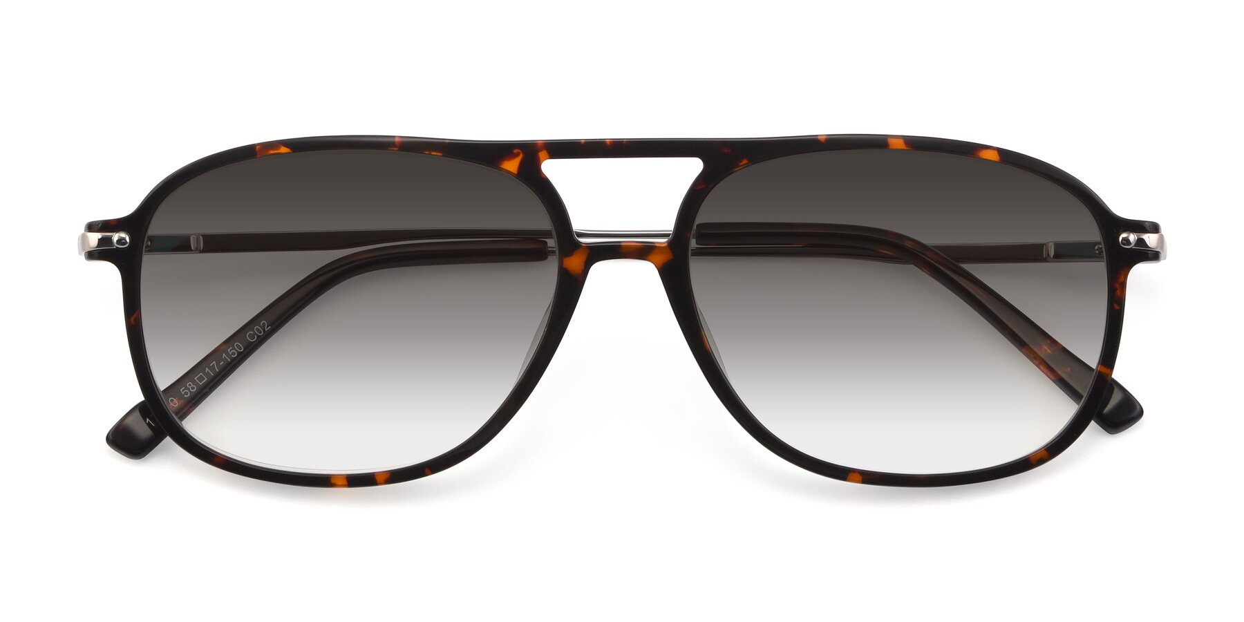 Folded Front of 17580 in Tortoise with Gray Gradient Lenses