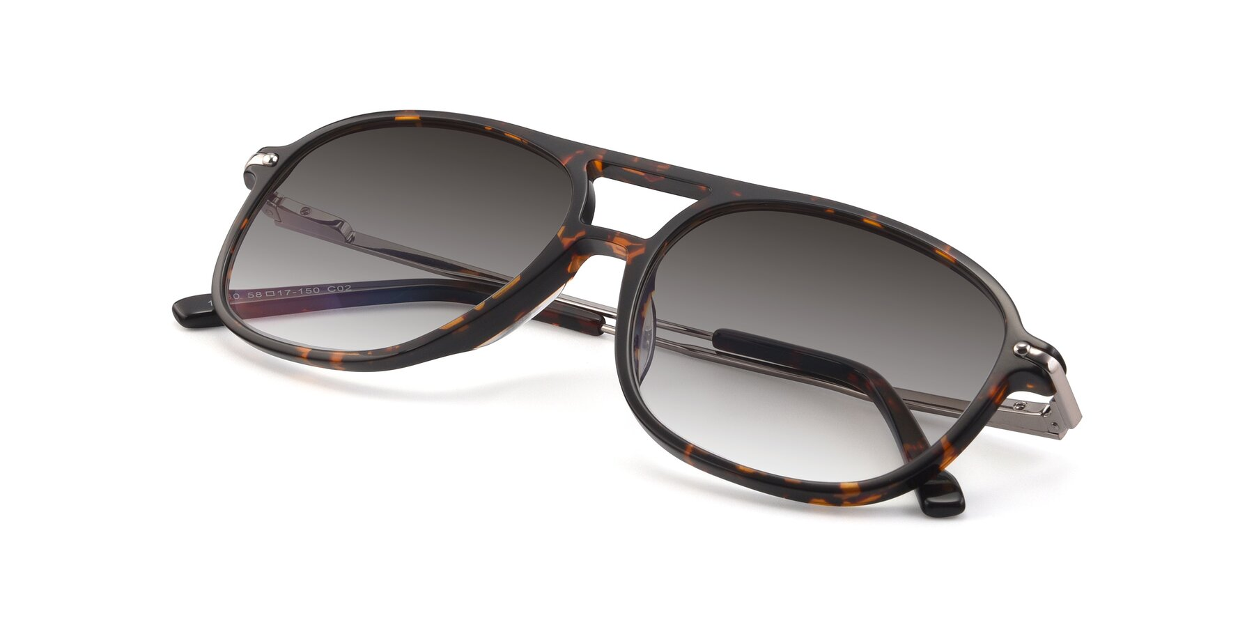 View of 17580 in Tortoise with Gray Gradient Lenses
