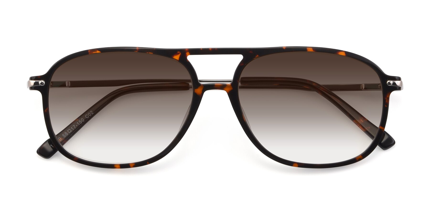 Folded Front of 17580 in Tortoise with Brown Gradient Lenses