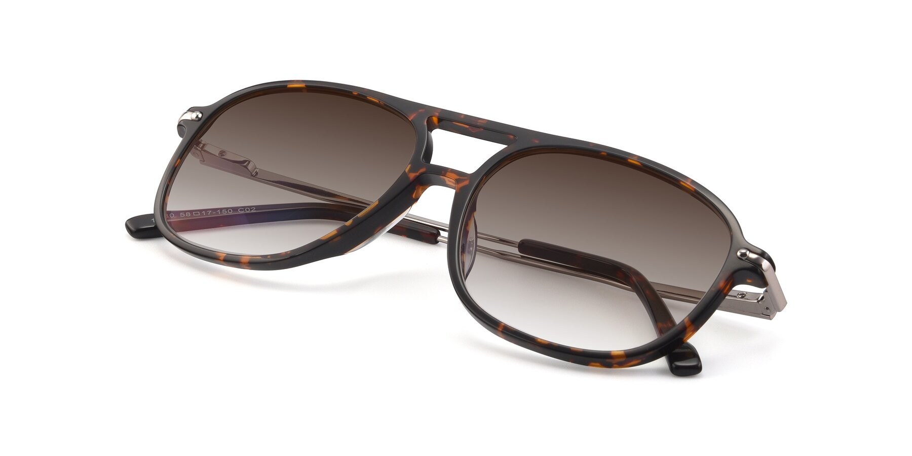 View of 17580 in Tortoise with Brown Gradient Lenses