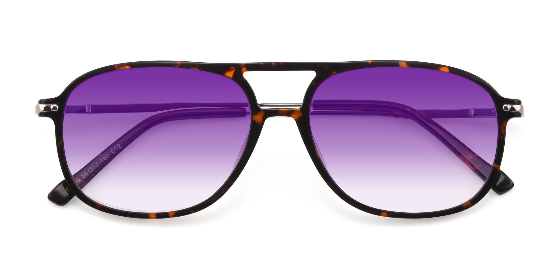 Folded Front of 17580 in Tortoise with Purple Gradient Lenses