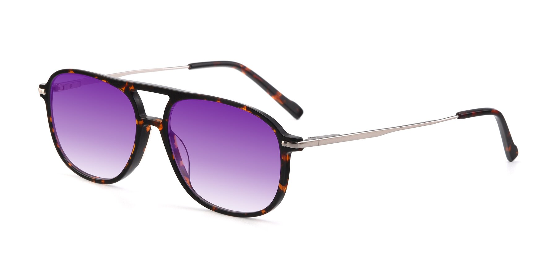 Angle of 17580 in Tortoise with Purple Gradient Lenses
