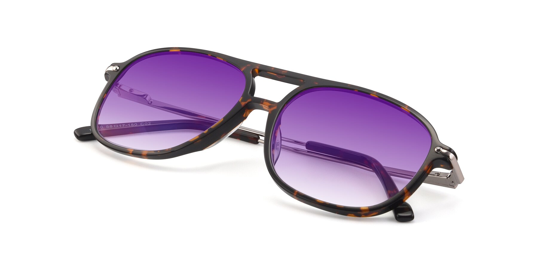 View of 17580 in Tortoise with Purple Gradient Lenses