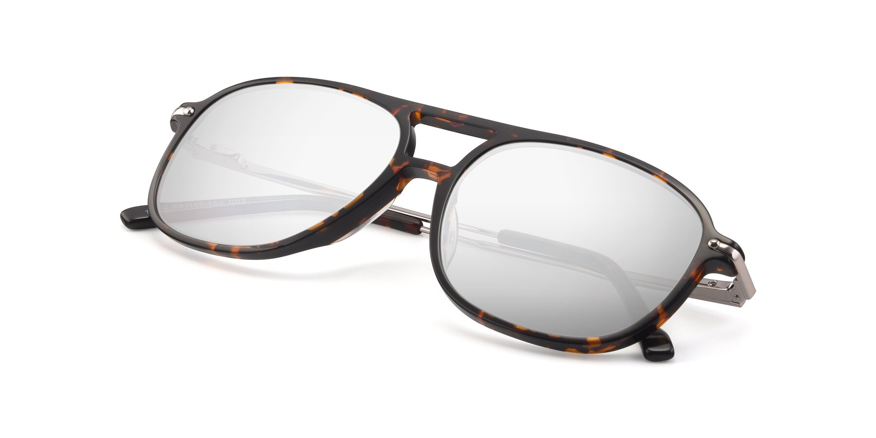 View of 17580 in Tortoise with Silver Mirrored Lenses