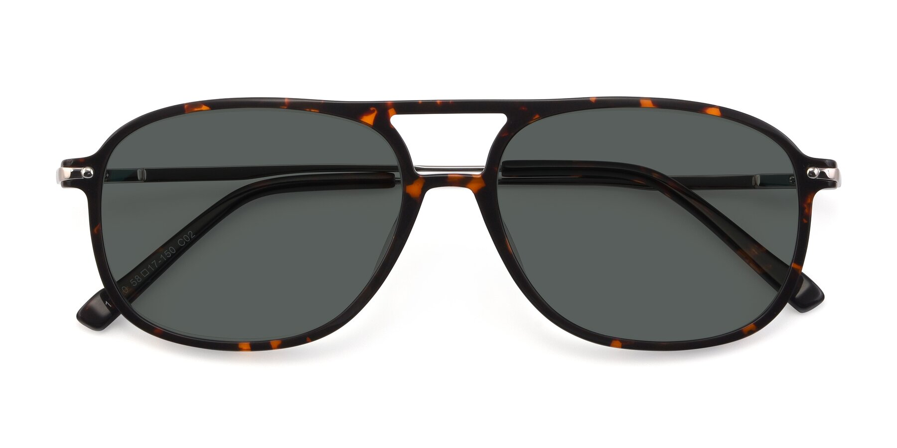 Folded Front of 17580 in Tortoise with Gray Polarized Lenses