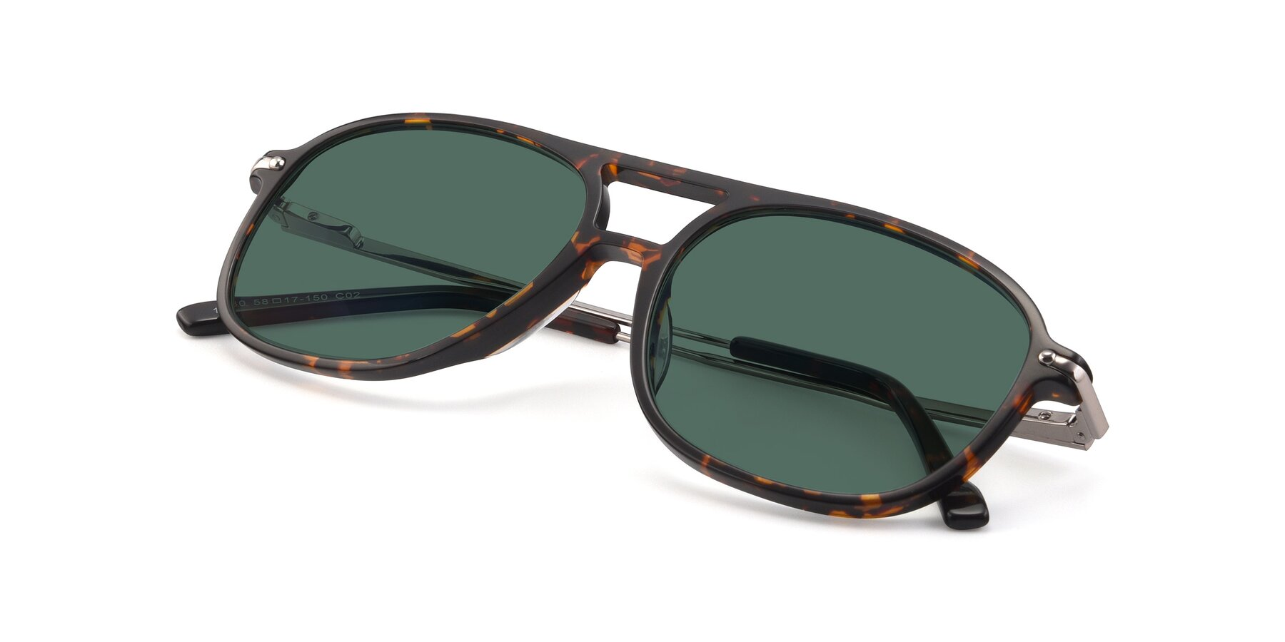 View of 17580 in Tortoise with Green Polarized Lenses